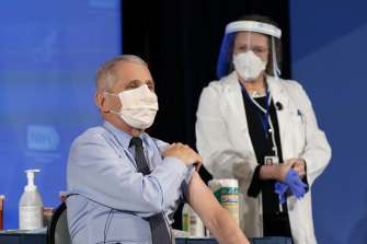 Dr Anthony Fauci received the Moderna COVID-19 vaccine on live television.