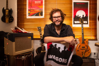 Like musicians around the country, Henry Wagons can't perform live at the moment but fans can support their favourite artists by purchasing merchandise online.