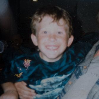 Brenton Tarrant as a child.