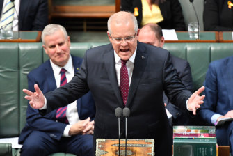 Prime Minister Scott Morrison in Parliament in September.