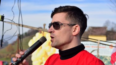 Critics say Austrian Martin Sellner is the spokesman for a racist, extreme far-right group.