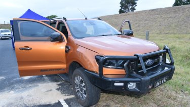 Police believe this orange ute is linked to Mitat Rasimi's death.