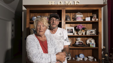 Hans De Bruyen, 74, with his wife Gloria, 75, in their social housing home in Colyton, western Sydney, which was built by the NSW government using proceeds from the Millers Point sell-off.