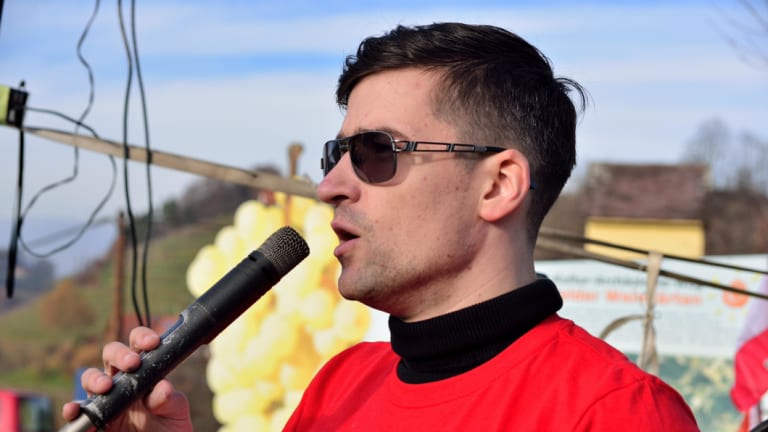 Critics say Martin Sellner is the spokesman for a racist, extreme far-right group.