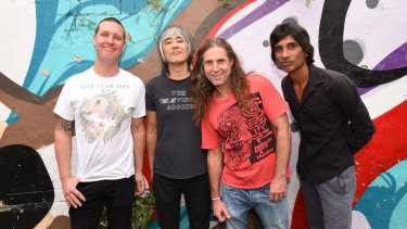 The Hard-Ons (from left) Murray Ruse, Ray Ahn, Peter Black and Keish de Silva.