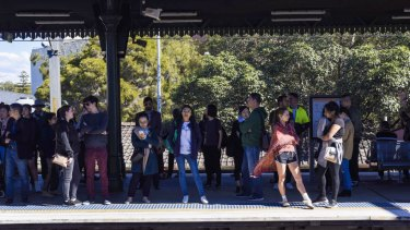 Commuters have been hit by massive delays on trains in Sydney.