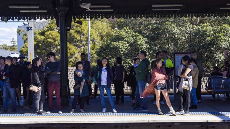 Commuters were hit by massive delays on trains in Sydney last weekend as well.