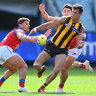 Jaeger O'Meara has a fracture above his eyebrow but will not need surgery.