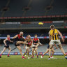Demons and Hawks play out grinding draw