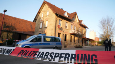 The shooting happened in a pub in Rot am See in Germany.