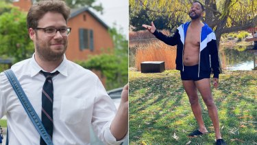 Seth Rogen and Will Smith.