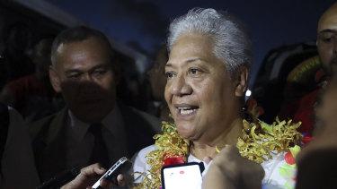 Samoa's Prime Minister-elect Fiame Naomi Mata'afa.