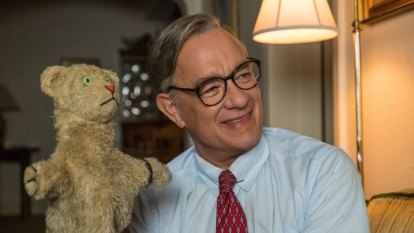 Is Tom Hanks as Mr Rogers for real? Mostly, then there's that smile