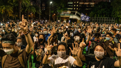 'Democracy now!' Hong Kong protesters defy police ban, mark Tiananmen anniversary