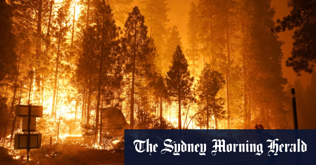 Hundreds rescued from fires by helicopter as heatwave bakes California – Sydney Morning Herald