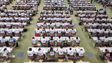 More than 800 contestants from across Japan, and a few from South Korea, gathered for the All Japan Abacus Championship in Kyoto this month.