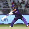 Chris Greaves plays a shot against Bangladesh.