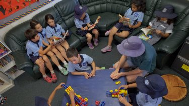 Students attending after-school care at Ivanhoe Primary School