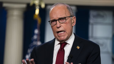 White House chief economic adviser Larry Kudlow says the market has gone too far.