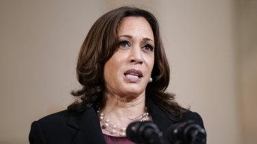 US Vice-President Kamala Harris.