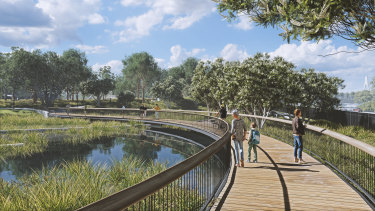 The Rozelle Parklands are due to open in 2023.