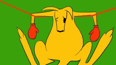 Australian sport is on the ropes. Illustration: Simon Letch