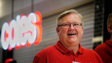 Coles chief executive Steven Cain reported a bumper sales result.