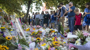 A makeshift memorial in Christchurch to honour the 50 victims of a terror attack. Mr Howard said he did not write or endorse Senator Anning's statements on the tragedy.