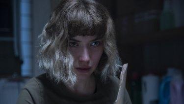 Imogen Poots stars as the heroine Riley in the slasher film Black Christmas.