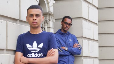Youth leaders Ahmed Hassan and Ali Ahmed.