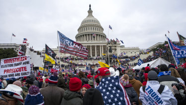 Supporters of President Donald Trump rally at the US Capitol last week.