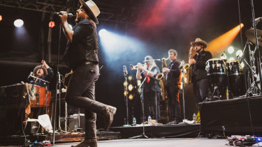 Nathaniel Rateliff's in full flight with The Night Sweats.