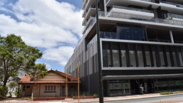 The Pinnacles building shows the tension between the old and the new in South Perth.