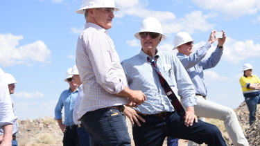 Robbie Katter (left) says he is ready to take control of his family's namesake party.