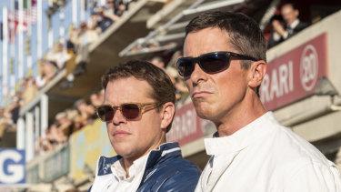 Matt Damon (left) and Christian Bale in Ford v Ferrari, now in cinemas.