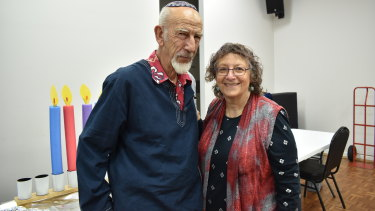 Helen and Harry, both British, consider themselves the official grandparents to the synagogue's kids and prepare them for bar mitzvahs.