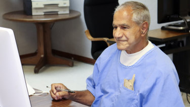 Sirhan Sirhan at his parole hearing on Friday.