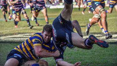 Sydney University captain Guy Porter in action last week against Easts.