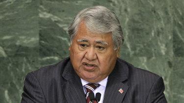 Tuilaepa Sailele Malielegaoi was Samoa's prime minister for 22 years before the election defeat.