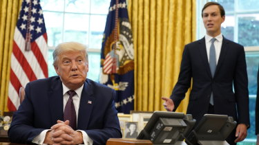 Donald Trump and Jared Kushner, pictured in the Oval Office on Friday.