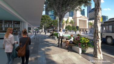 The council will widen footpaths on Adelaide Street and landscape the street.