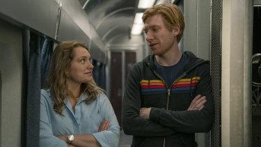 Merritt Wever and Domhnall Gleeson star in Run.