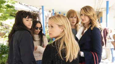 In series two of Big Little Lies with, from left, Shailene Woodley, Zoë Kravitz, Reese Witherspoon and Nicole Kidman.