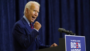 Democratic presidential candidate former Vice President Joe Biden  strained to contain his outrage over the comments reports by The Atlantic.
