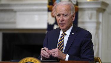 "President Joe Biden said the US economic recovery would be ""a sprint rather than a marathon""."