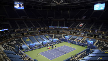 A major without fans: The US Open begins in New York.
