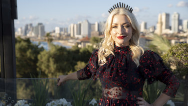 "Kate Miller-Heidke attends an Australian ""fan party"" in Tel Aviv, Israel, ahead of the 64th Eurovision Song Contest."