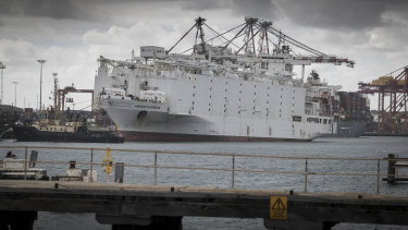 The Awassi Express at Fremantle Port last year.
