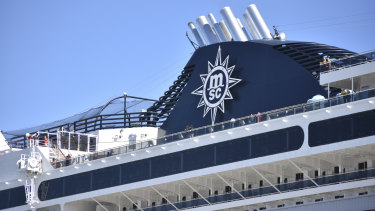 MSC Magnifica docked in Fremantle Tuesday to refuel and reprovision.