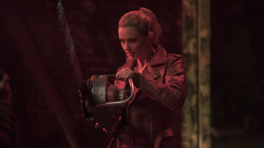 Chain reaction: No, Kathryn Newton's character hasn't landed a gig as a lumberjack.